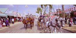 Paseo de caballos en la feria