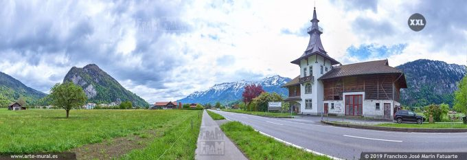 JF736706. Countryside panorama near Unterseen. Switzerland