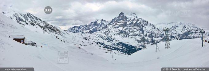 JF750804. Grindelwald-First mountain panorama. Switzerland