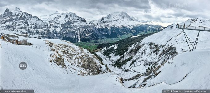 JF755155. Bernese Alps mountain panorama. Switzerland