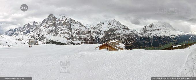 JF762506. Bernese Alps mountain panorama. Switzerland
