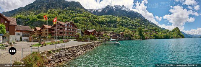 JF847305. Iseltwald village centre. Switzerland