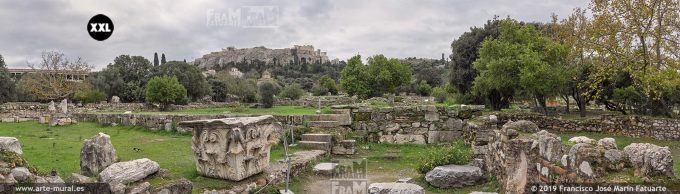 J81224F4. Ancient Agora and Acropolis, Athens (Greece)