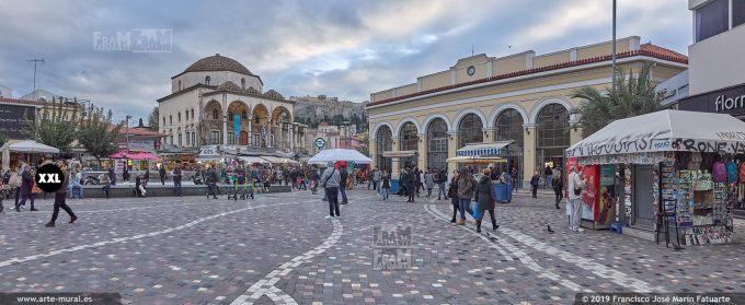 J8133002. Tzistarakis Mosque in Monastiraki Square, Athens (Greece)