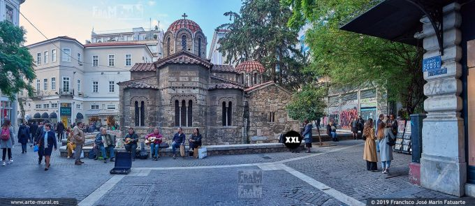 JF297503. Ermou Street and Church of the Assumption of the Virgin Mary. Athens (Greece)