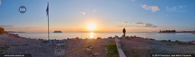JF351704. Sunset at Glyfada beach Athens (Greece)