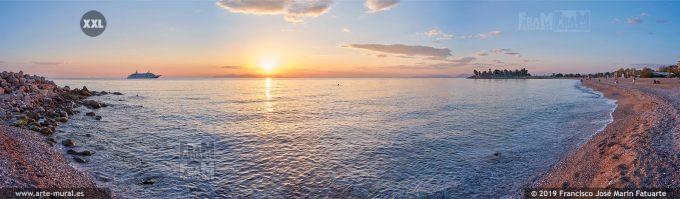 JF353905. Sunset at Glyfada beach Athens (Greece)