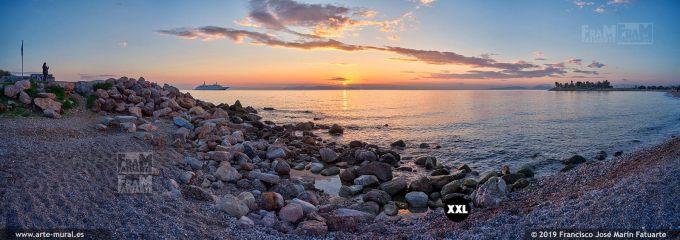 JF357805. Sunset at Glyfada beach Athens (Greece)