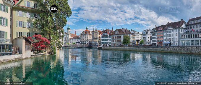 JF873103. River Reuss from Mühlenplatz, Lucerne (Switzerland)