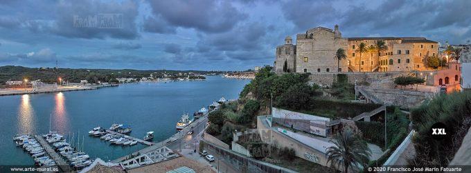 K8677304 Port of Mahon and Sant Francesc Convent, Menorca (SPAIN)