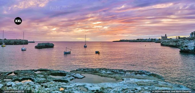 KQ043805 Sunset near Sant Nicolau Castle - Ciudadela, Menorca (Spain)