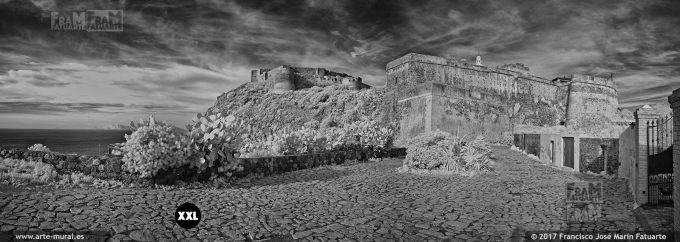 HS038208. Infrared panorama. Castello di Milazzo. Sicily (Italy)