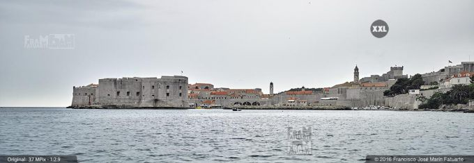 G3906110. Old Port of Dubrovnik from the sea (Croatia)
