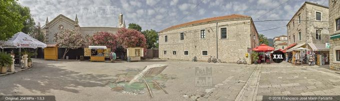 G3781905. Ston old town with graffiti on floor (Croatia)