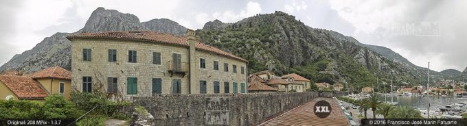 G3757507. Port of Kotor from city fortifications (Montenegro)