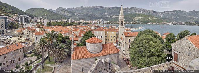 G3771104. View from top of Budva Citadela (Montenegro)