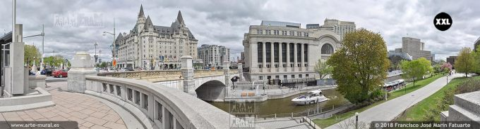 I6593704. Rideau Canal, Conference Centre and Château Laurier hotel, Ottawa. Canada