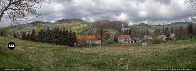EL1320623. Small village in Lower Silesia, Silesia, Poland