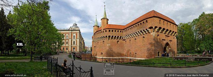EL1416014. View of Krakow Barbican, Krakow, Poland