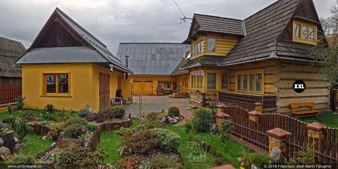 EL1475622. Polish goral highlanders wooden houses in Chocholow, Gmina Czarny Dunajec, Nowy Targ County, Lesser Poland Voivodeship, Poland