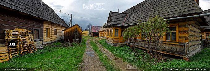 EL1477413. Polish goral highlanders wooden houses in Chocholow, Gmina Czarny Dunajec, Nowy Targ County, Lesser Poland Voivodeship, Poland