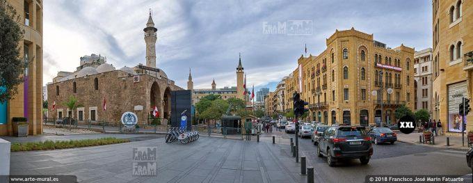 IF084953. Waygand street at Mansour Assaf Mosque. Beirut, Lebanon