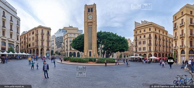 IF089105. Nejmeh Square, Place de l'Étoile, Beirut, Lebanon