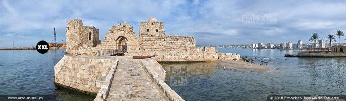 IF120905. Crusaders Sea Castle. Sidon, Lebanon
