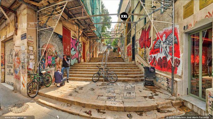 IF187955. Saint-Nicolas stairway (lower end), Beirut. Lebanon
