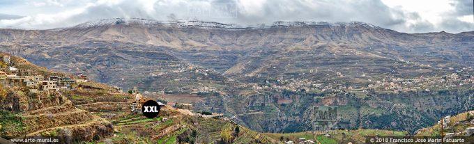 IF233507. Kadisha Gorge panoramic view. North Governorate, Lebanon.