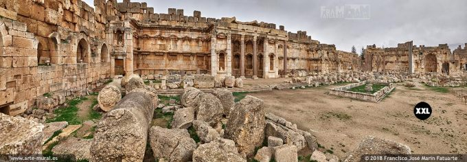 IF277604. The Great Court of ancient Heliopolis's temple. Baalbek Lebanon
