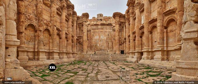 IF283205. Temple of Bacchus (interior). Baalbek Lebanon