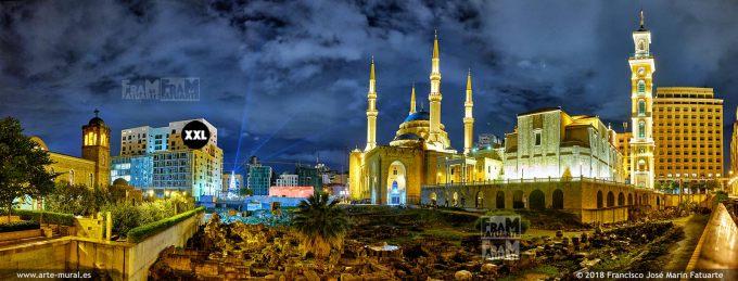 IF308505. Beirut downtown at Roman Forum. Lebanon