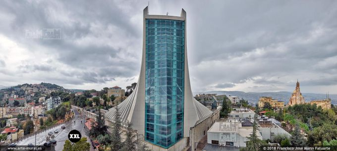 IF316705. View from the Statue of Our Lady of Lebanon. New Basilica. Harissa, Lebanon