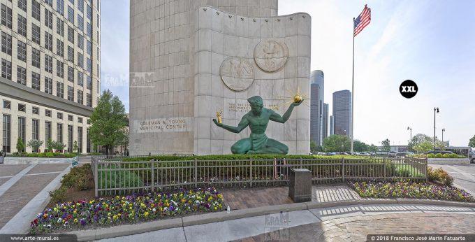 I6519007. The Spirit of Detroit. Michigan. USA