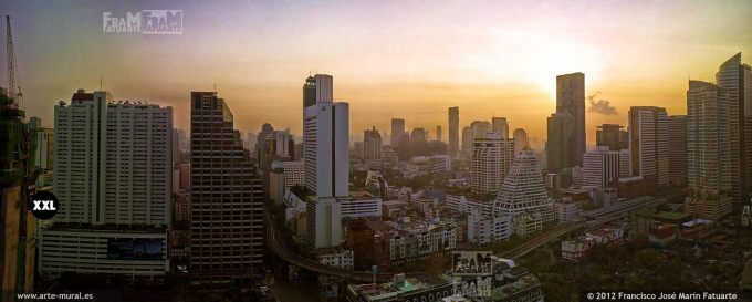 CDL475302. High angle view of buildings in city, Bangkok, Thailand